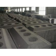 Ánodo precalentado de ánodo de carbono electrolítico de aluminio