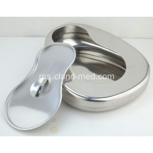 Hospital Stainless Steel Jenis Bedpan Barat