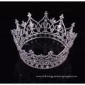 Wholesale newest design rhinestone full round princess crown for girls