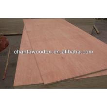 9mm bintangor cara / back madera contrachapada comercial con núcleo de álamo, BB / CC grado