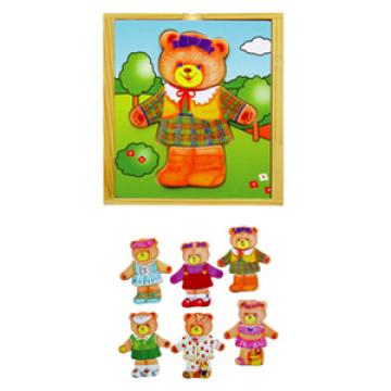 Wooden Dress up Bear (6 designs)