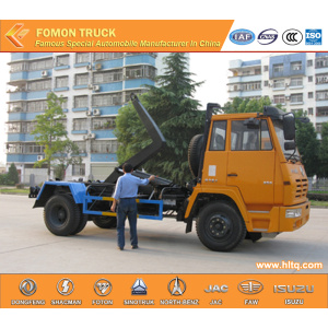 SHACMAN AOLONG 10cubic hydraulic lifting refuse truck