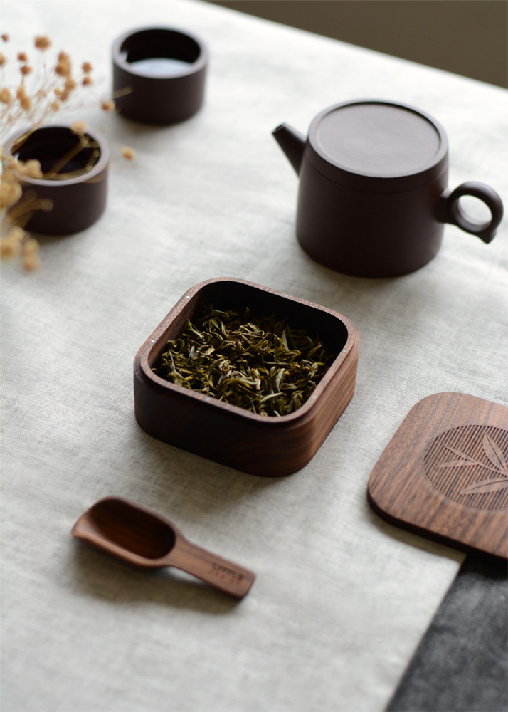 beech portable tea box