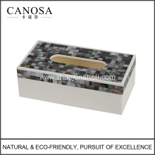 Black Mother of Pearl Rectangular Tissue Box Cover