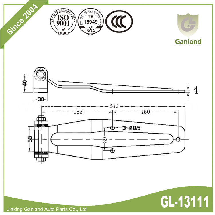 bolt on hinge GL-13111