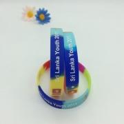 Pulsera de silicona de Color segmentada