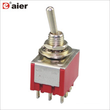 MTS-302 6A 6MM 3PDT 9Pin ON-ON Replace Standard NKK Toggle Switch