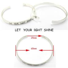 Fashion Customerized Engrave Messages Bracelet Bracelet en Argent Sterling
