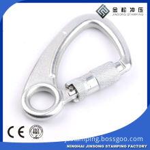 Custom logo gold metal stamped hook clasp snap hook safety climbing metal parts