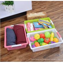 Comercio al por mayor de alta calidad PP cesta de usos múltiples de almacenamiento de plástico con mango