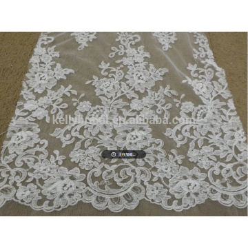 2018 new desigh top quality turquoise fabric lace for women dress
