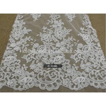 2018 novo desigh de qualidade superior laço de tecido turquesa para vestido de mulher