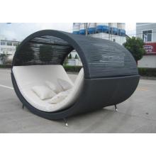 PE ao ar livre do Rattan mobiliário cadeira de balanço