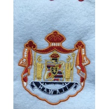 Custom stock 3D applique embroidery patch