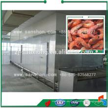 China Túnel congelador de la máquina, pescado mariscos congelador Equipo