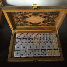 Double 6 Plastic Dominoes In Luxury Box