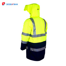 New fashion design high visibility reflective hooded jackets safety workwear