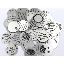 Locket Flutuante High Quanlity Placas de moedas de jóias de aço inoxidável Set
