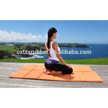 Protable anpassen Druck Design Gummi Reise Yoga Matte