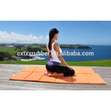 protable customize print design rubber travel yoga mat