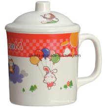 100%Melamine Tableware- Kid′s Mug W/Cover/Melamine Mug (BG617S)