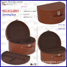 Faux leather sewing tool box