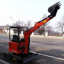mini excavator with bulldoze