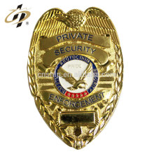 Wholesale custom metal brass blank lettering security officer badge for sales