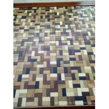 Piso de madera de parqué de madera mezclado lujoso del estilo del mosaico