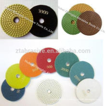 High Performance 4 Inch Granite polishing diamond resin pad discos para pulir marmol