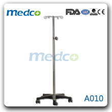 A010 hospital bed IV pole with five legs