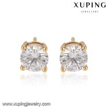 91753-Xuping bijoux 18K plaqué or mode simple boucle d'oreille