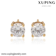 91753-Xuping Jóias 18k banhado a ouro moda simples brinco