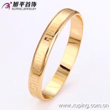 Xuping 18k Золотой цвет моды Slick браслет