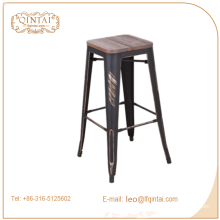 China industrial metal wooden bar stool with footrest covers China industrial metal wooden bar stool with footrest covers