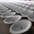 Bassin de lavage en surface en pierre acrylique sur comptoir