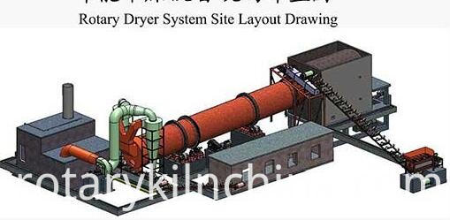 Coal Slime Rotary Dryerdrawing