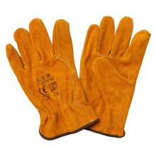 Wing Thumb Cow Split Leather Industrial Work Gloves Hand Protective Driver Gloves