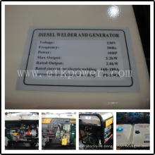 Generador de Soldador Diesel de Montaje Rápido (2.5 / 4.6KW)