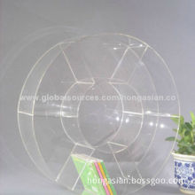Round Top Clear Acrylic CD Rack for Living RoomNew