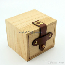 Wooden Gift Box Drawers Boxes Watch Case 9 X9.5 X10.5 cm as Christmas Gift Box