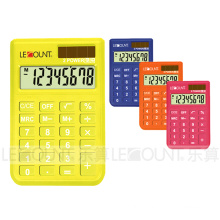 8 Digits Dual Power Small Pocket Calculator with Various Optional Colors (LC395A-1)