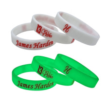 Eco-friendly Printed Custom Logo Rubber Bracelet Wrist Band