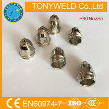 Gas cutting consumables cutting nozzle Panasonic p80 cutting accessories