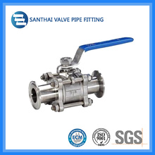 3PC Stainless Steel Ball Valve with Clamp Ends