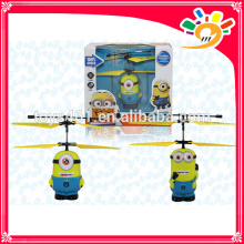 Wholesale toys Rc-helicopter Remote Control Aircraft Toy flying minions RC induction toys minions toys