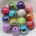 Christmas Decoration 6mm Acrylic Plastic Round Bubblegum Imitation Swarovski Beads