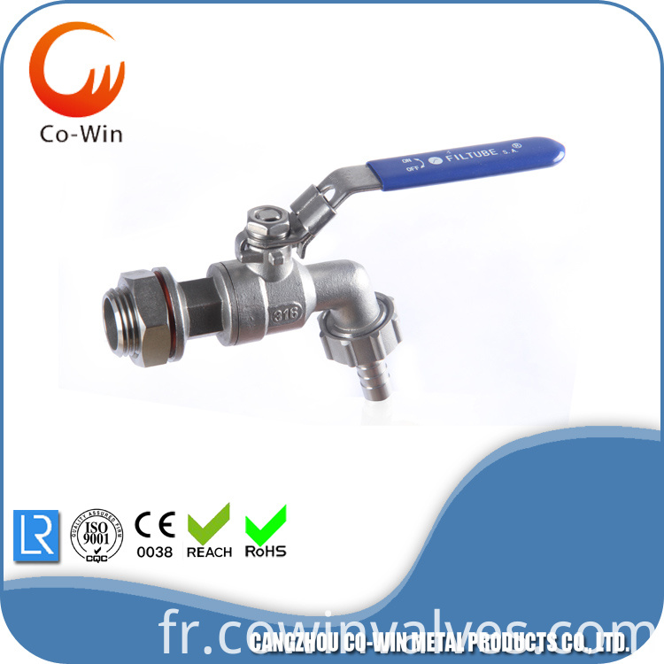 Hose Tap Ball Valves 304