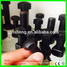 High quality black hex track shoe bolt and nut 12.9 grade excavator track bolt
