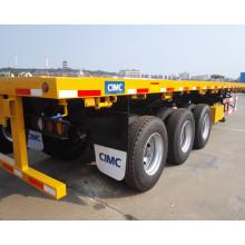 La mejor calidad Cimc a estrenar 40FT envase semi remolque plano cama contenedor semi remolque camión